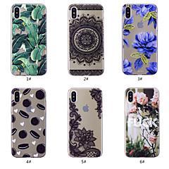 Недорогие Кейсы для iPhone X-Кейс для Назначение Apple iPhone XS / iPhone XS Max С узором Кейс на заднюю панель Продукты питания / Цветы Мягкий ТПУ для iPhone XS / iPhone XR / iPhone XS Max