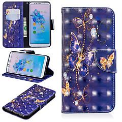 Недорогие Чехлы и кейсы для Huawei Mate-Кейс для Назначение Huawei Mate 10 lite / Huawei Mate 20 Pro Кошелек / Бумажник для карт / со стендом Чехол Бабочка Твердый Кожа PU для Huawei Nova 3i / Huawei P Smart Plus / Honor 7A