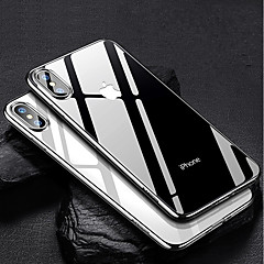 Недорогие Кейсы для iPhone 6-Кейс для Назначение Apple iPhone XR / iPhone XS Max Покрытие / Ультратонкий / Прозрачный Кейс на заднюю панель Однотонный Мягкий ТПУ для iPhone XS / iPhone XR / iPhone XS Max