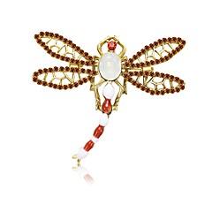 abordables Bijoux pour Femme-Femme Perle d'eau douce Sculpture Broche - Libellule simple, Dessin Animé, Doux Broche Or Pour Rendez-vous / Débutant