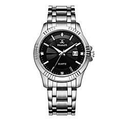 abordables Relojes de Lujo-Hombre Reloj de Pulsera Cuarzo 30 m Calendario Creativo Aleación Banda Analógico Lujo Moda Plata - Blanco Negro