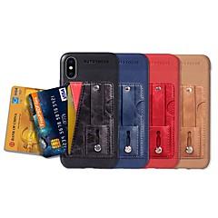 Недорогие Кейсы для iPhone 7-Кейс для Назначение Apple iPhone XR / iPhone XS Max Бумажник для карт / со стендом / Матовое Кейс на заднюю панель Однотонный Твердый Кожа PU для iPhone XS / iPhone XR / iPhone XS Max