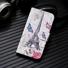 Недорогие Кейсы для iPhone 7 Plus-Кейс для Назначение Apple iPhone XR / iPhone XS Max Кошелек / Бумажник для карт / со стендом Чехол Эйфелева башня Твердый Кожа PU для iPhone XS / iPhone XR / iPhone XS Max