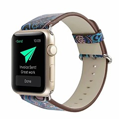 お買い得  腕時計用アクセサリー-本革 / ポリウレタン 時計バンド ストラップ のために Apple Watch Series 4/3/2/1 ブルー 23センチメートル / 9インチ 2.1cm / 0.83 Inch