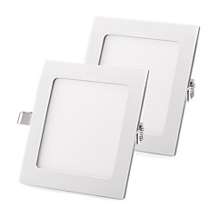 cheap Indoor Lights-ZDM 2PCS 18W Flat LED Panel Light LampUltra-thin LED Recessed Ceiling Light Natural White / Cold White / Warm White AC85-265V