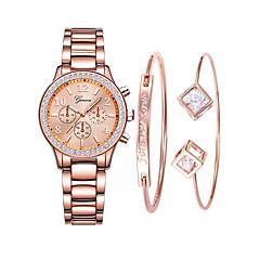 preiswerte Damenuhren-Damen Armbanduhr Quartz 30 m Kreativ Neues Design Edelstahl Band Analog-Digital Retro Modisch Rotgold - Rotgold Rotgold / Silber Rotgold / Weiß