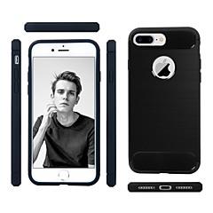 Недорогие Кейсы для iPhone 7 Plus-Кейс для Назначение Apple iPhone 7 Plus Защита от удара / Ультратонкий Кейс на заднюю панель Однотонный Мягкий ТПУ для iPhone 7 Plus