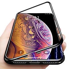 Недорогие Кейсы для iPhone-Кейс для Назначение Apple iPhone XR / iPhone XS Max Защита от удара / Магнитный Кейс на заднюю панель Однотонный Твердый Закаленное стекло для iPhone XS / iPhone XR / iPhone XS Max