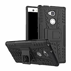 Недорогие Чехлы и кейсы для Sony-Кейс для Назначение Sony Xperia XA2 Ultra со стендом Кейс на заднюю панель броня Твердый ПК для Xperia XA2 Ultra