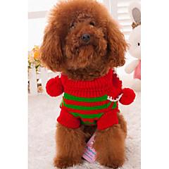 お買い得  犬用ウェア&アクセサリー-犬用 / 猫用 セーター 犬用ウェア カラーブロック / 縞柄 ストライプ アクリル繊維 コスチューム ペット用 男女兼用 保温 / ファッション