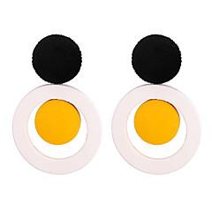Недорогие Женские украшения-Жен. Классический Серьги-слезки - Простой, европейский, Мода Белый / Светло-лиловый / Зеленый Назначение Повседневные