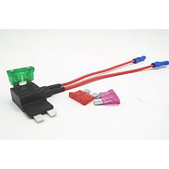 Недорогие Автоэлектроника-держатель плавкого предохранителя вставки для автомобиля / автомобильная вставка предохранитель зарядное устройство / 2-контактный плавкий предохранитель двусторонний провод 3