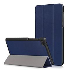 Недорогие Чехлы и кейсы для Lenovo-Кейс для Назначение Lenovo Tab 7 Essential / Lenovo Tab 4 7 Essential Защита от пыли / Флип / Авто Режим сна / Пробуждение Чехол Однотонный Твердый Кожа PU для Lenovo Tab 7 Essential / Lenovo Tab 4 7