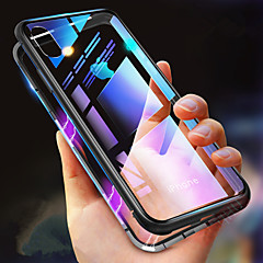 abordables Fundas para iPhone 6-Funda Para Apple iPhone XR / iPhone XS Max Antigolpes / Transparente / Magnética Funda de Cuerpo Entero Un Color Dura Vidrio Templado para iPhone XS / iPhone XR / iPhone XS Max
