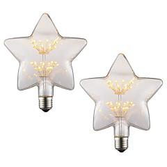 preiswerte LED-Birnen-2pcs 2 W 150 lm E26 / E27 LED Glühlampen Stern 2 LED-Perlen Hochleistungs - LED Dekorativ / Weiches Filament Warmes Weiß 220-240 V