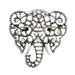 abordables Broches-Mujer Zirconia Cúbica Broche - Elefante Elegante, Básico Broche Plata Para Regalo / Diario