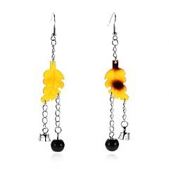 preiswerte Ohrringe-Damen Gelb Nicht übereinstimmend Tropfen-Ohrringe - Stilvoll, Künstlerisch, Anhänger Stil Gelb Für Zeremonie Klub / 2pcs