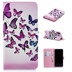 Недорогие Кейсы для iPhone 6 Plus-Кейс для Назначение Apple iPhone XS / iPhone XS Max Кошелек / Бумажник для карт / со стендом Чехол Бабочка Твердый Кожа PU для iPhone XS / iPhone XR / iPhone XS Max
