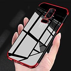 お買い得  その他のケース-ケース 用途 OnePlus OnePlus 6 / OnePlus 5T メッキ仕上げ / クリア バックカバー ソリッド ソフト TPU のために OnePlus 6 / OnePlus 5T