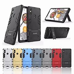 Недорогие Чехлы и кейсы для Xiaomi-Кейс для Назначение Xiaomi Mi 8 SE Защита от удара / со стендом Кейс на заднюю панель Однотонный Твердый ПК для Xiaomi Mi 8 SE