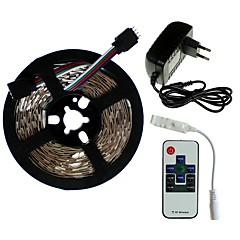preiswerte LED Lichtstreifen-SENCART 5m Lichtsets 300/150 LEDs SMD5050 1 x 2A Netzteil / 1 Fernbedienung mit 10 Tasten RGB Schneidbar / Dekorativ / Verbindbar 100-240 V 1 set