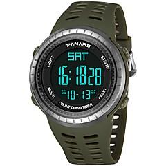 お買い得  メンズ腕時計-男性用 スポーツウォッチ 日本産 デジタル 30 m 耐水 カレンダー 2タイムゾーン シリコーン バンド デジタル ファッション ブラック / グリーン - ブラック グリーン