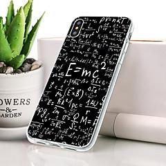 Недорогие Кейсы для iPhone-Кейс для Назначение Apple iPhone XR Защита от пыли / Ультратонкий / С узором Кейс на заднюю панель Слова / выражения Мягкий ТПУ для iPhone XR