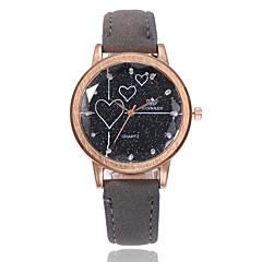preiswerte Damenuhren-Damen Armbanduhr Quartz Armbanduhren für den Alltag Imitation Diamant PU Band Analog Heart Shape Modisch Schwarz / Weiß / Blau - Grün Blau Rosa