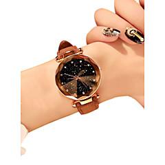 preiswerte Damenuhren-Damen Armbanduhr Quartz 30 m Wasserdicht Neues Design PU Band Analog Freizeit Modisch Schwarz / Rot / Braun - Rot Grün Rosa