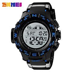 お買い得  メンズ腕時計-SKMEI 男性用 スポーツウォッチ 軍用腕時計 デジタル 50 m アラーム カレンダー クロノグラフ付き PU バンド デジタル カジュアル ファッション ブラック - ブラック レッド ブルー 1年間 電池寿命