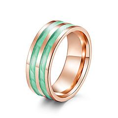 preiswerte Ringe-Damen Klassisch Bandring Ring - Rostfrei Künstlerisch, Einzigartiges Design, Modisch 6 / 7 / 8 / 9 / 10 Purpur / Rot / Grün Für Party Valentinstag