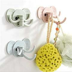 abordables Almacenamiento para Dormitorio y Salón-El plastico Rectángulo Adorable Casa Organización, 1pc Ganchos de Pared