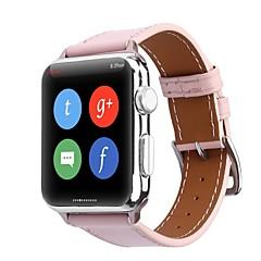 お買い得  メンズ腕時計-カーフヘアー 時計バンド ストラップ のために Apple Watch Series 4/3/2/1 ブラック / ブラウン / ピンク 23センチメートル / 9インチ 2.1cm / 0.83 Inch
