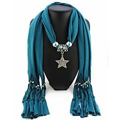 お買い得  ネックレス-女性用 ロング丈 スカーフネックレス  -  欧風, ロマンチック, 甘い キュート レッド, ブルー, ライトグリーン 180 cm ネックレス ジュエリー 1個 用途 ストリート, 新年