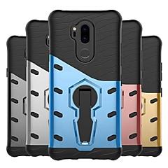 Недорогие Чехлы и кейсы для LG-Кейс для Назначение LG V20 / G7 Защита от удара / со стендом / Матовое Кейс на заднюю панель броня Твердый ПК для LG X Style / LG X Power / LG V20