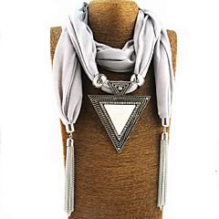 preiswerte Halsketten-Damen Lang Schal Halskette - Erklärung, Quaste, Süß Niedlich Weiß, Schwarz, Grau 180 cm Modische Halsketten Schmuck 1pc Für Neujahr, Geburtstag