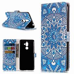 Недорогие Чехлы и кейсы для Nokia-Кейс для Назначение Nokia Nokia 7 Plus / Nokia 6 2018 Кошелек / Бумажник для карт / со стендом Чехол Цветы Твердый Кожа PU для Nokia 7 Plus / Nokia 6 2018 / Nokia 1