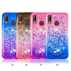 お買い得  Huawei Pシリーズケース/ カバー-ケース 用途 Huawei P20 lite / P smart ラインストーン / リキッド バックカバー カラーグラデーション ソフト TPU のために Huawei P20 lite / P smart