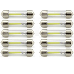 Недорогие Освещение салона авто-10 шт. 41mm Автомобиль Лампы 1 W COB 85 lm 1 Светодиодная лампа Внутреннее освещение / Внешние осветительные приборы Назначение Универсальный Универсальный / KX5 Универсальный