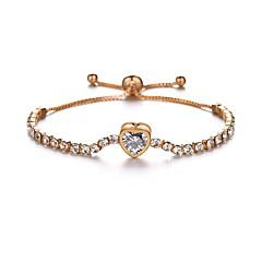 preiswerte Armbänder-Damen Perlenbesetzt Ketten- & Glieder-Armbänder - Herz Romantisch Armbänder Gold Für Geschenk Festival