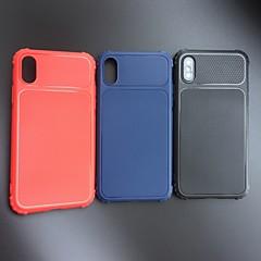 Недорогие Кейсы для iPhone 6 Plus-Кейс для Назначение Apple iPhone XR / iPhone XS Max Защита от удара / Матовое Кейс на заднюю панель Однотонный Мягкий ТПУ для iPhone XS / iPhone XR / iPhone XS Max