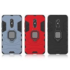 Недорогие Чехлы и кейсы для Xiaomi-Кейс для Назначение Xiaomi Redmi Note 4X Защита от удара / Кольца-держатели Кейс на заднюю панель Однотонный / броня Твердый ПК для Xiaomi Redmi Note 4X