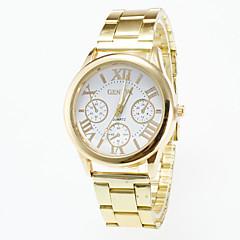 preiswerte Herrenuhren-Herrn Armbanduhr Quartz Armbanduhren für den Alltag Legierung Band Analog Modisch Gold - Weiß Schwarz