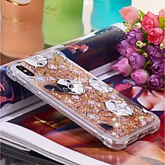 Недорогие Кейсы для iPhone X-Кейс для Назначение Apple iPhone XR / iPhone XS Max Движущаяся жидкость / С узором Кейс на заднюю панель С собакой Мягкий ТПУ для iPhone XS / iPhone XR / iPhone XS Max