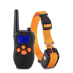 お買い得  犬用首輪/リード/ハーネス-犬用 カラー / 訓練 アンチ犬叫 / エレクトリック / LCD クラシック メタリック / プラスチック ブラック / オレンジ