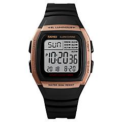 お買い得  メンズ腕時計-SKMEI 男性用 スポーツウォッチ 軍用腕時計 デジタル 50 m アラーム カレンダー クロノグラフ付き PU バンド デジタル カジュアル ファッション ブラック - グリーン ブルー ローズゴールド 1年間 電池寿命