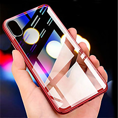 voordelige iPhone 7 hoesjes-hoesje Voor Apple iPhone XR / iPhone XS Max Transparant Achterkant Effen Hard Gehard glas voor iPhone XS / iPhone XR / iPhone XS Max