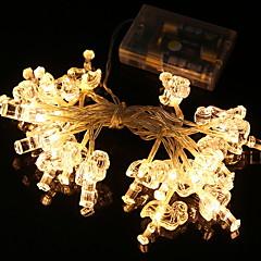 お買い得  LED ストリングライト-2m ストリングライト 20 LED 温白色 装飾用 単3乾電池 1セット