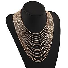 preiswerte Halsketten-Damen Mehrschichtig Layered Ketten - Hyperbel Gold, Silber 48 cm Modische Halsketten Schmuck 1pc Für Karnival, Ausgehen