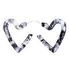 abordables Pendientes-Mujer Clásico Pendientes cortos - Resina Corazón Europeo, Romántico Marrón / Rojo / Gris oscuro Para Fiesta / Noche Cita